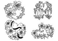 Floral-heart-brushes-pack