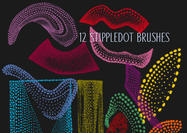 Alien Stippledot Doodle Brush Pack