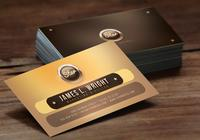 Golden Star Business Card Template PSD Pack