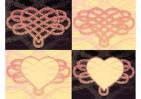 Herz Rose Knot Wallpaper und Pinsel Pack