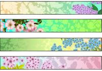 Fresh Floral Banner Wallpaper Pack