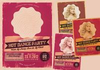 Het dance party psd flyer pack