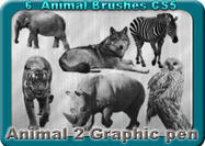 6 Animal Brushes Made With Graphic Pen 2