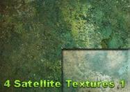 4 Satelliet Grunge Texturen
