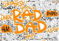 Fars dag Hand Lettering Background
