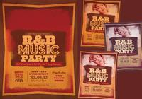 R & B Musik Party PSD Flyer