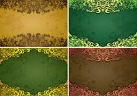Emerald Vintage Background e Frame Brush Pack