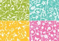 Floral Swirls Wallpaper Pack