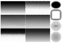 Halftone Brushes and Backgrounds Pack