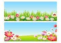 Pink Spring Flower Landscape Wallpaper Pack