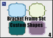 Bracket-frame-shape-set