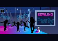Bowling Party Wallpaper en Children's Silhouette Brushes Pack