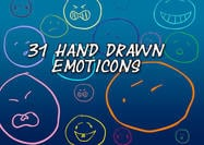 31 Handdragen Emoticon Former