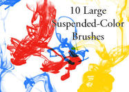 Suspended-color-ink-drop-brushes