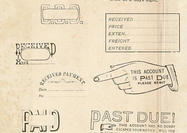 Vintage Office Rubber Stamps Brushes