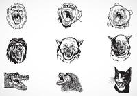 Fierce-animal-brushes-pack
