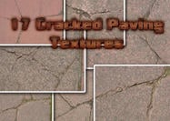 17 Cracked Pavement Texturen