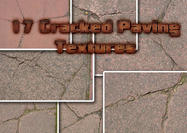 17 Cracked Pavement Textures