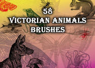 58 Victorian Animal Brushes