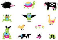 Bright Cartoon Animal Brushes Pack