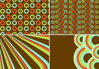 Retro Background and Pattern Set