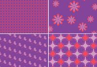 Patterns Funky et motifs de fond violets