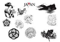 Japanese-brushes-and-nature-elements