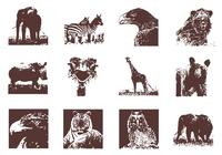 Grunge Wild Animals Brushes Pack