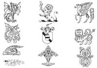 Hand-drawn-heraldry-brushes-pack