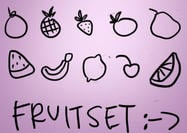 Fruit Brushes Set (10)