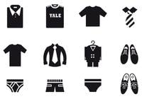 Male Clothing Brush Icons Pack
