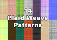 14 motifs Plaid Checkered