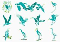Tropical Birds Brushes Pack