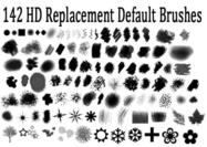 Hi Def Replacement Standaard Photoshop Borstel Set