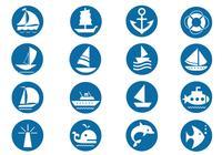 Pacote de símbolos de pincel náutico