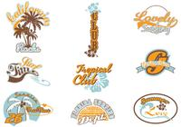 Surf Summer Label Brushes Pack