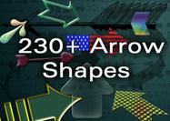 Abundante juego de formas de flecha