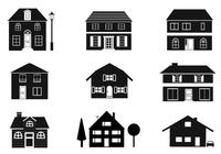 Black and White Houses Brushes Pack