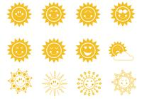 Cute Smiley Suns Brushes Pack
