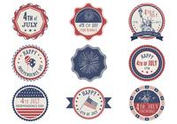 Retro 4th of July Label Brushes Pack