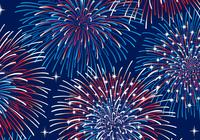 Patriotic Fireworks Background