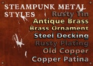 7 Antique Steampunk Metal Styles
