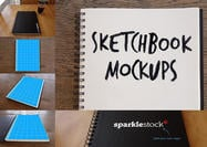 Photorealistic Sketchbook Mockups PSDs