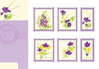 Pacote Floral Post Card e Stamp Brushes