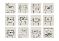 Hand Drawn Cat Brushes Pack