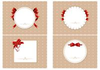Craft Paper Wallpapers with Red Ribbons
