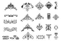 Hand Drawn Vintage Ornament Brushes Pack