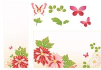 Pink Flower Banner och Butterfly Brush Pack