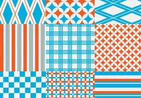 Orange och Blue Geometric Pattern Pack