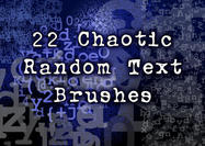 22 Chaotic Random Text Brushes